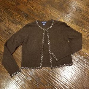 Ann Taylor wool beaded cardigan